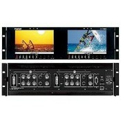 Marshall Electronics V-R72P-2HDA Dual 7 inch Wide Screen LCD Rack Unit with analog HD / SD with DVI