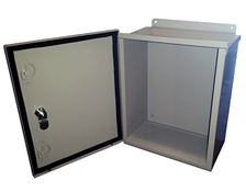 Mier Products Bw119lbp 10x12x6 Enclosure With Back Panel