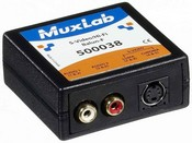 Muxlab 500038 S-Video/Hi-Fi Balun, Female