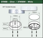 Northern Video DTWBB Back Box For Nth-Dtw Series Domes Silver