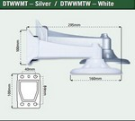 Northern Video DTWWMTW Wall Mount For Nth-Dtw Series Domes Whit