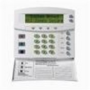 GE Security NX-148E-CC, 192-Zone LCD Keypad With Fold-Down Door And Coil Cord