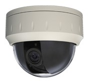 Openeye CM-216 High Resolution Indoor Dome Camera with 600TVL, 3.3-12mm Varifocal Lens, WDR, and Dual Voltage