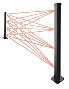 Optex RNW175 Single-Sided, Wall-Mounted Beam Tower For Use With RN4-Series