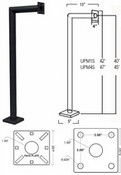 Pach & Company UPM1S Standard Single Arm Pedestal Mounting Post (42