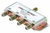 Pico HFS-4, 4-Way Splitter, 950-2150Mhz, Power Passing on 1 Port