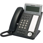 Panasonic Telephone KX-DT346-B 24 Button 6-Line Backlit LCD Display Digital Telephone, Color Black