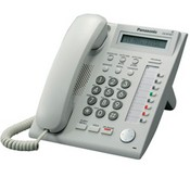 Panasonic Telephone KX-NT321 IP Telephone with 8 Buttons, 1-line backlit LCD, Speakerphone, Power over Ethernet (PoE). Color White