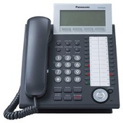 Panasonic Telephone KX-NT346-B Expandable IP Telephone with 6-Line Backlit LCD, Black