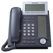 Panasonic Telephone KX-NT366-B IP Telephone with 24 Buttons, 6-Line Backlit LCD, Speakerphone, Self Labeling and Power over Ethernet (PoE), Black