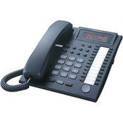 Panasonic Telephone KX-T7736-B 3-Line LCD Phone designed to work with the KX-TA824 Advanced Hybrid System, Black
