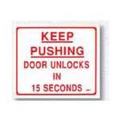 Rutherford Controls BC3M English Mylar - Keep Pushing Door Unlocks In 15