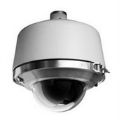 Pelco SD427PRME0 Spectra IV SE 27X Pendant Mount Environmental Pressurized Light Gray Housing Smoked Bubble Fiber Optic Feed