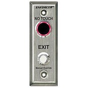 Seco Larm SD-9163-KSQ No Touch Outdoor Request-to-Exit Plate w/ Delay Timer and Override Button, Slim
