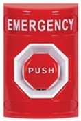 Safety Technology SS2005E Momentary Pushbutton No Cover Label Emergency Red