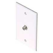Steren 200250WH Satellite Ribbon Cable White Wall Plate