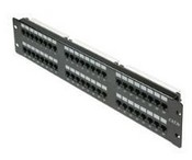 Steren 310-349 Cat 6 48 Port Patch Panel, 2 RMS