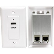 Steren 526119WH Hdmi Over Cat5e Wall Plate, White