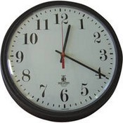 Sperry West  SW1300AB Industrial Wall Clock Covert Black/White Camera