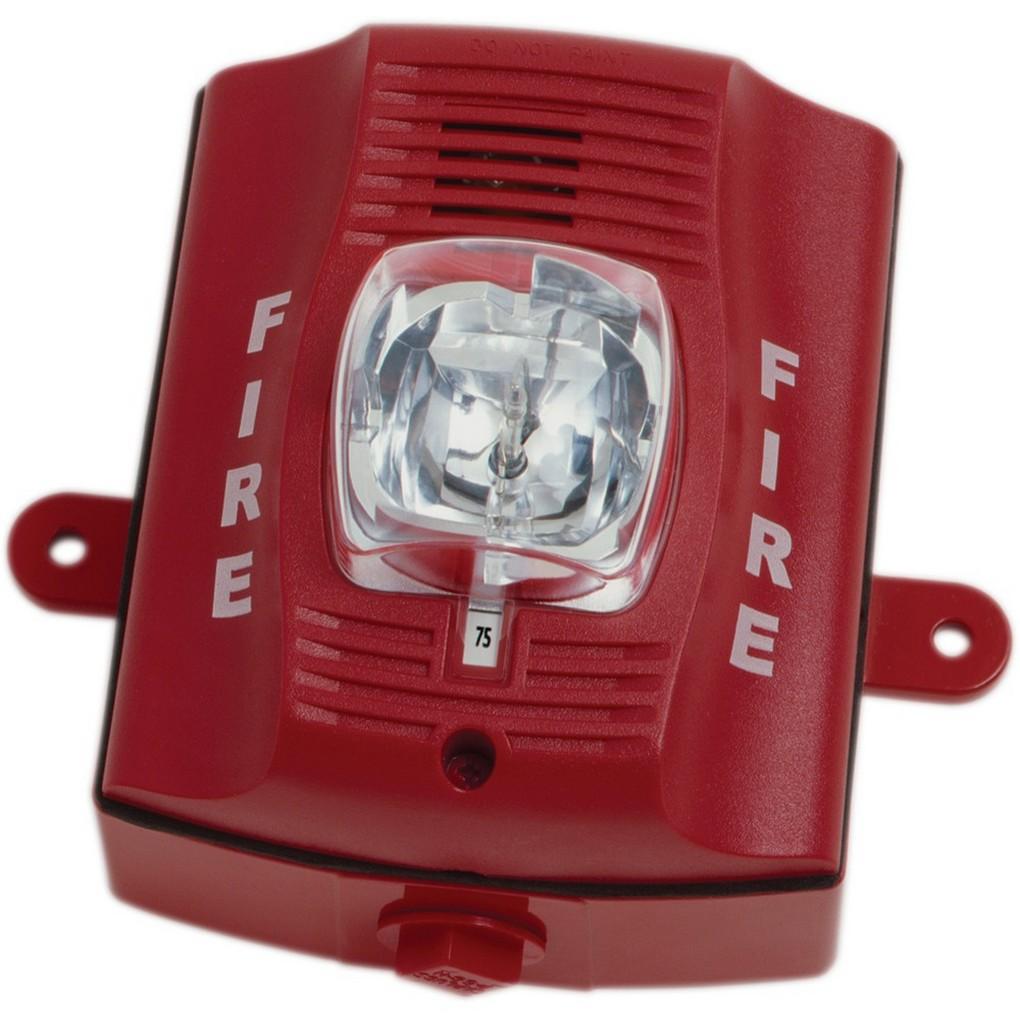 System Sensor P2rhk 2 Wire Horn Strobe Hi Candela Red Outoor