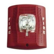 System Sensor SPSRH Red Speaker Strobe For Wall Installation, High Candela
