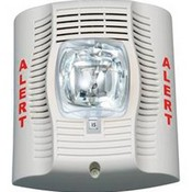 System Sensor SPSW-CLR-ALERT SpectrAlert Advance White Speaker Strobe With Standard Cd And An Clear Lens Designed For Mass Notification Applications