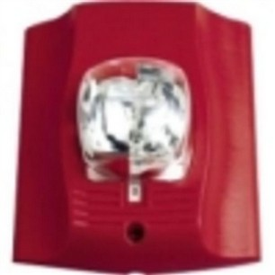 System Sensor Sr Sp Wall Mount Strobe Red With Fuego Pad Print