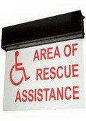 Talk-A-Phone ETPSIGN-LD Lighted Area Of Rescue Sign With UPS