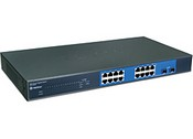 Trend Net TEG-160WS 16-port Gigabit Web Smart Switch With 2 Shared Mini-GBIC Slots