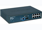 Trend Net TEG-S811FI 8-Port 10/100Mbps Layer 2 Managed Switch with Gigabit Copper and Mini-GBIC Slot