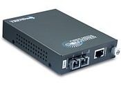 Trend Net TFC-1000S20 Intelligent 1000Base-T to 1000Base-LX Single-Mode SC Fiber Converter (20km/12.4miles)