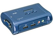 Trend Net TK-209K 2-Port USB KVM Switch Kit with Audio