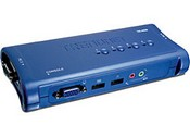 Trend Net TK-409K 4-Port USB KVM Switch Kit with Audio
