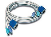 Trend Net TK-C15 15ft PS/2/VGA KVM Cable