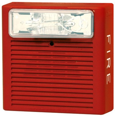 NEW Cooper Wheelock NS4-2415W-FR Red Fire Alarm Strobe ...  |Wheelock Fire Alarm Horn Strobe