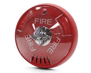 Cooper Wheelock Hsrc Fire Alarm Ceiling Mount Horn Strobe Red