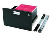 Winsted 88324 Rack Mount File Drawer, Black