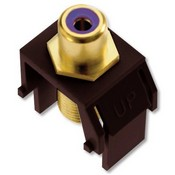 Legrand WP3466BR Purple RCA to F-Connector Brown