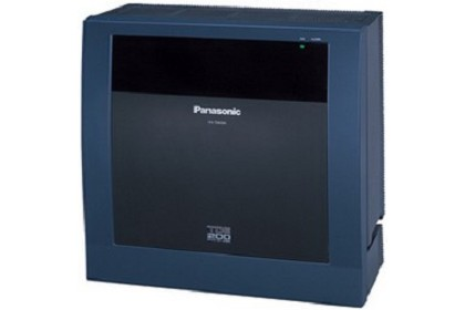 Panasonic Telephone KX-TDE200 Converged IP-PBX System With Up To 256 Total Extensions and 128 CO Lines