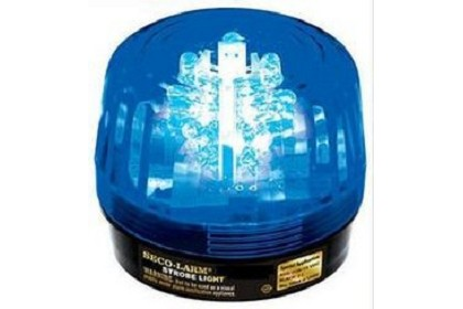 Seco Larm SL-126-A24Q-B Informative Strobe Light, Blue, 6-24VDC