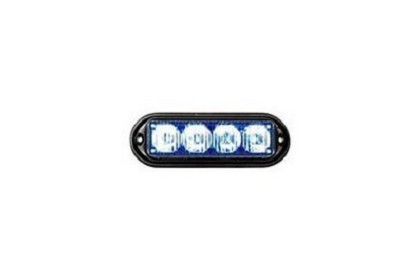 Seco Larm SL-1311-MA-B Seco-Larm Blue Rectangular High-Intensity LED Strobe Light 12VDC