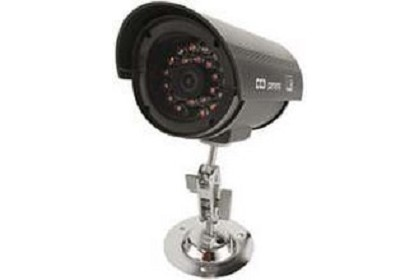 Seco Larm VD-10PL Dummy IR Bullet Camera With Real Working IR Leds IR Leds Turn On At Dark And Turn Off At Light Includes Mounting Brac
