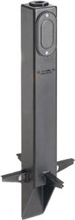Arlington GPL19BR | Low Profile Garden Post Bronze 19-1/2
