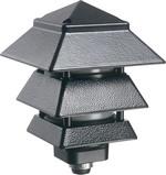 Arlington GPP60LB | Pagoda Light Fixture Black