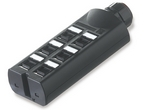 Commscope 2153216-6 | MiniPod, category 6, 6 port, unloaded with angled adapters, unshielded