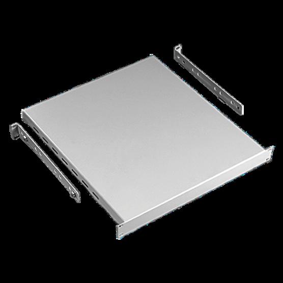 Hoffman P19SH68B | Rack-Mount Shelf, fits 19in Rack, 800mm Max Depth, Black, Steel, Solid