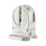 Leviton 13654-SNP | Miniature Base, T5 Bi-Pin, Standard Fluorescent Lampholder, Low Profile, Snap-In or Slide-ON, Lamp-Lock, , Quickwire 18AWG Solid