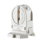 Leviton 13654-SWP | Miniature Base, T5 Bi-Pin, Standard Fluorescent Lampholder, Low Profile, Snap-In or Slide-ON, Lamp-Lock, Quickwire 18AWG Solid