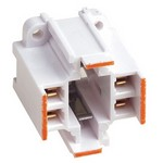 Leviton 26725-413 | G24q-3, GX24q-3 Base, 26W/32W 4-Pin, 10mm Compact Fluorescent Lampholder, Vertical, Orange Color Code, Quick-Connect 18AWG Solid