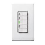 Leviton VRCZ4-M0Z | Vizia RF + 4-Button Zone Controller for Multi-Location Control with IR Remote Capability